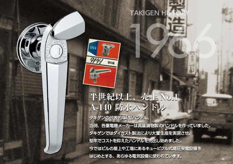 1966年 半世紀以上、売上No.1 A-140 防水ハンドル