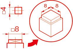 正方形(Square)/□(カク)例