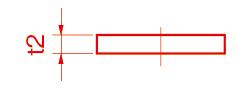 板の厚さ(Thickness)/t(ティ)例