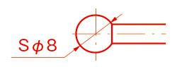 球の直径(Spherical Diameter)/Sφ(エスファイ)例