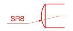 球の半径(Spherical Radius)/SR(エスアール)例